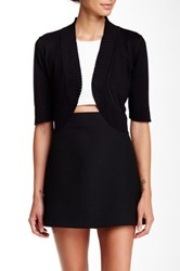 Cable And Gauge Shrug Sweater Petite Black