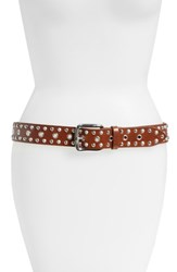 Etoile Isabel Marant Rica Studded Leather Belt Brown