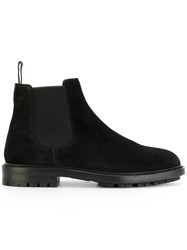 Dolce And Gabbana Chelsea Boots Men Leather Rubber 40.5 Black