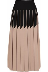 Sonia Rykiel Pleated Stretch Knit Midi Skirt