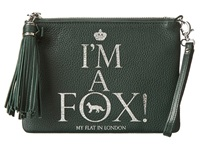 My Flat In London Tassel Small Pouch Hunter Green Handbags