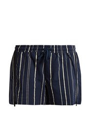 The Upside Kula Striped Shorts Navy Multi