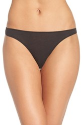 Skin Women's Organic Cotton Thong Black