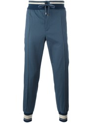 Dolce And Gabbana Piped Track Pants Blue