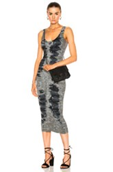 Enza Costa Rib Tank Midi Dress In Green Ombre And Tie Dye Green Ombre And Tie Dye