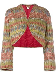 Missoni Vintage Padded Bolero Jacket Multicolour