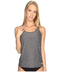 Speedo Power Pulse Tankini Top Heather Grey Women's Swimwear Gray
