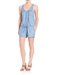 Joie Soft Mendra Chambray Romper Vintage Chambray