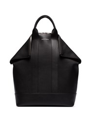 Alexander Mcqueen Black Arno Calf Leather Backpack 60