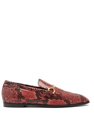 Stella Mccartney Python Effect Faux Leather Loafers