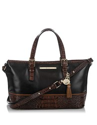 Brahmin Asher Mini Leather Tote Black