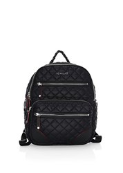 M Z Wallace Small Crosby Quilted Backpack Black