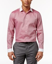 Inc International Concepts Men's Chambray White Trim Shirt Only At Macy's Tango Red