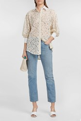 Paul And Joe Corded Lace Shirt White