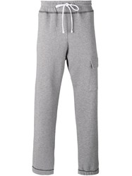 Futur Flap Pocket Sweatpants Men Cotton M Grey