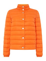 Hugo Boss Padded Jacked With Button Detail And Bag Orange