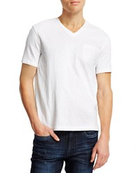 Kenneth Cole Acid Washed Pocket T Shirt White