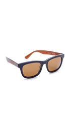 Wonderland Mojave Sunglasses Blue Beach Glass Brown Bronze