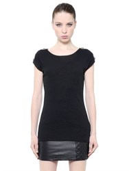 Balmain Embellished Cotton Jersey T Shirt