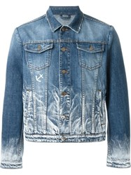 Iceberg Washed Denim Jacket Blue