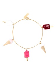 Saint Laurent Ice Cream Charm Bracelet Metallic