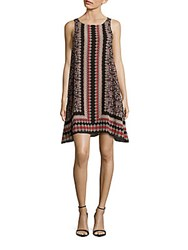 Max Studio Printed Sleeveless Trapeze Dress Multicolor