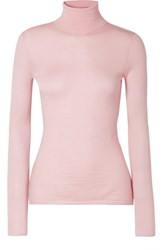 Gabriela Hearst Costa Cashmere And Silk Blend Turtleneck Sweater Baby Pink