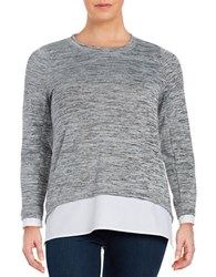 Marc New York Mock Layered Space Dyed Tunic Grey