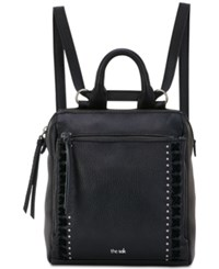 The Sak Loyola Convertible Small Backpack Black Silver