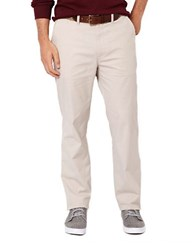 Nautica Beacon Flat Front Pants Brown