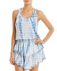 Surf Gypsy Crocheted Dress Swim Cover Up Blue