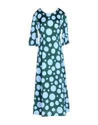 .Tessa Dresses 3 4 Length Dresses Women Green