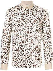 Loveless Leopard Print Shirt White