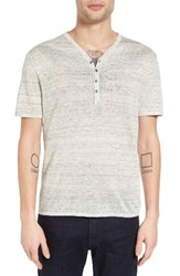 John Varvatos Men's Star Usa Space Dye Linen Henley Sweater