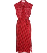 Alexander Wang Wool Blend Wrap Dress Red