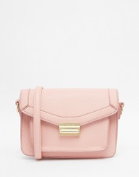 Marc B Push Lock Structured Cross Body Bag Candypink