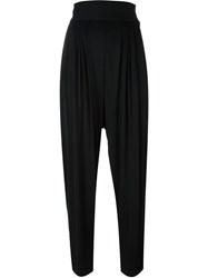 Versace Vintage High Waisted Trousers Black