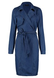 Vila Visassit Trenchcoat Dark Blue Denim