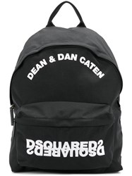 Dsquared2 Embroidered Backpack Black