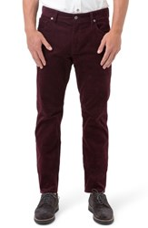 7 Diamonds Men's Courtland Slim Fit Corduroy Pants Mahogany