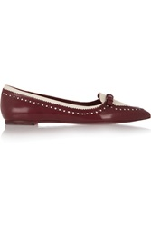 Tory Burch Darlene Two Tone Leather Pointed Toe Flats