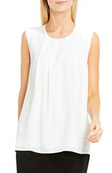 Vince Camuto Women's Pleat Neck Blouse New Ivory