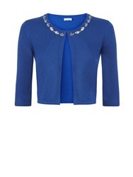 Kaliko Embellished Neck Cover Up Mid Blue