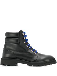 Bally Ankle Lace Up Boots Black