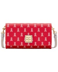 Dooney And Bourke Los Angeles Angels Of Anaheim Daphne Crossbody Wallet Red Gray