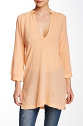Bobi V Neck 3 4 Sleeve Tunic Pink