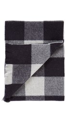 Norse Projects Johnstons Check Scarf Navy Check