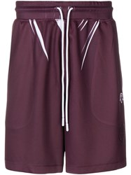 Adidas By Alexander Wang Originals Track Shorts Pink And Purple