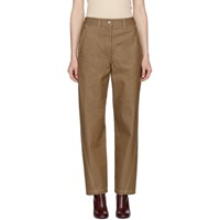 Christophe Lemaire Brown Twisted Jeans