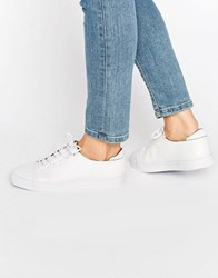 Asos Darley Clean Lace Up Trainers White